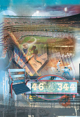 Digital Art - Baseball Bliss by Linda Carruth
