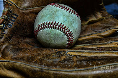 National Past Time Photograph - Baseball Broken In by Paul Ward
