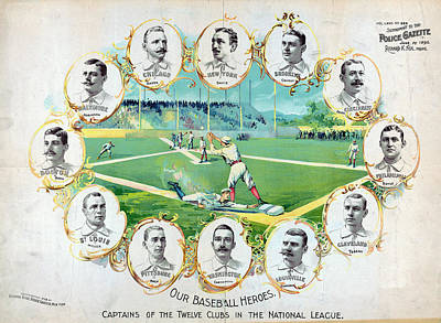 Nationals Baseball Drawing - Baseball, C1895 by Granger