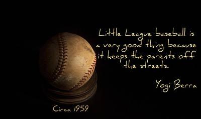 Yogi Berra Photograph - Baseball by Cecil Fuselier
