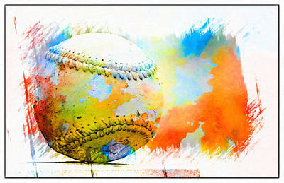 Baseball- Colors- Isolated Art Print by Kenny Francis