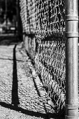 Baseball Fence Art Print by Kevin Grant