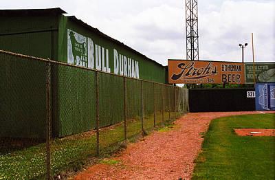 Photograph - Baseball Field Bull Durham Sign by Frank Romeo