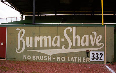 Baseball Mural Photograph - Baseball Field Burma Shave Sign by Frank Romeo