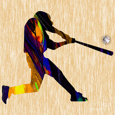 Baseballs Mixed Media - Baseball Game Art by Marvin Blaine