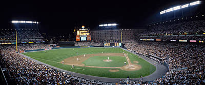 Baseball Game Camden Yards Baltimore Md Art Print by Panoramic Images
