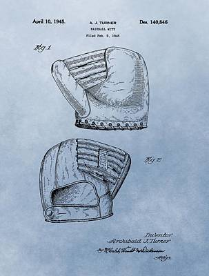 Athletes Royalty-Free and Rights-Managed Images - Baseball Glove Patent 2 by Dan Sproul