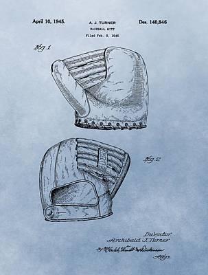 Baseball Glove Patent 2 Art Print by Dan Sproul
