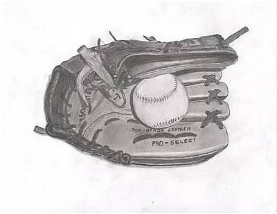Baseball Gloves Drawing - Baseball Glove by R S