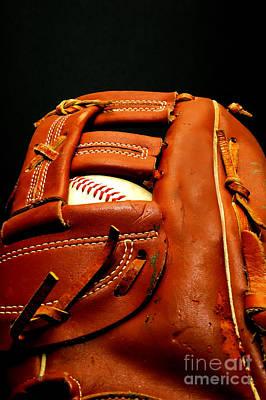 Baseball Glove With Ball Art Print by Danny Hooks