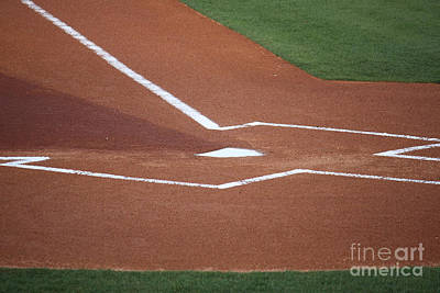 Baseball Homeplate Art Print by Keith Bell