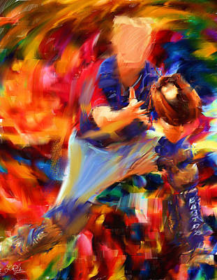 Baseball Players Digital Art - Baseball II by Lourry Legarde