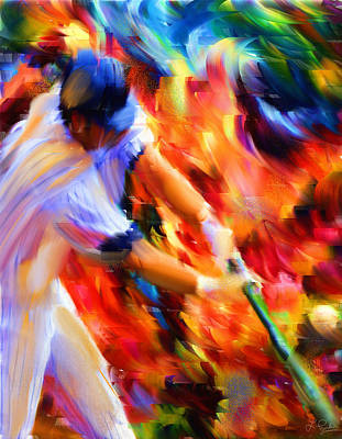Baseball Players Digital Art - Baseball IIi by Lourry Legarde