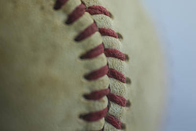 Photograph - Baseball Macro 2 by David Haskett II