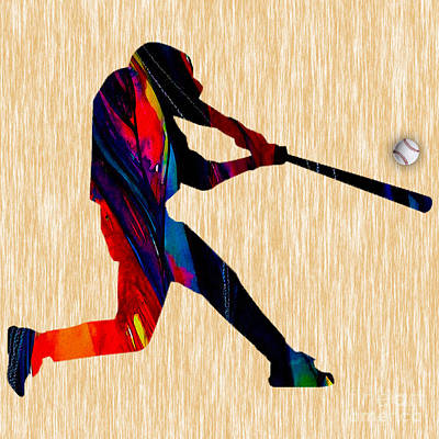 Baseball Art Mixed Media - Baseball by Marvin Blaine
