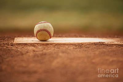 Photograph - Baseball On The Pitchers Mound by David Lee