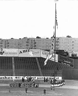 Yankee Stadium Wall Art - Photograph - Baseball Opening Day In Ny by Underwood Archives