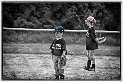 Photograph - Baseball Or Girls by Tom Culver