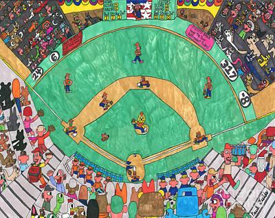 Baseball Art Print by Paul Fields