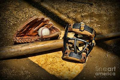 National Past Time Photograph - Baseball Play Ball by Paul Ward