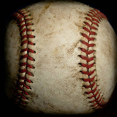 League Photograph - Baseball Seams by David Patterson