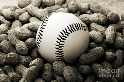 Photograph - Baseball Season Edgy Bw 1 by Andee Design
