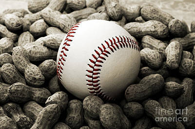 Andee Design White Photograph - Baseball Season Edgy Bw 2 by Andee Design