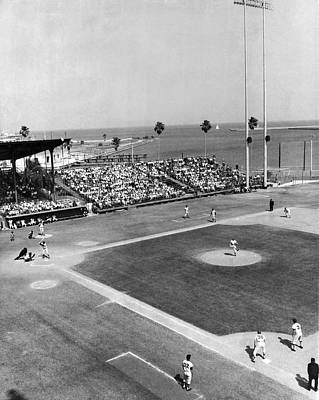 Spring Training Photograph - Baseball Spring Training by Underwood Archives