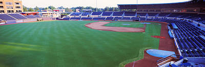 Athletic Photograph - Baseball Stadium In A City, Durham by Panoramic Images