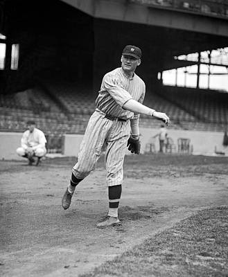 Baseball Players Photograph - Baseball Star Walter Johnson by Underwood Archives