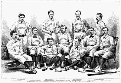 Baseball Painting - Baseball Team, 1874 by Granger