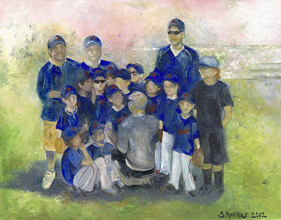 Painting - Baseball Team by Stephanie Broker