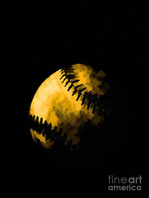 Baseball The American Pastime Art Print by Edward Fielding