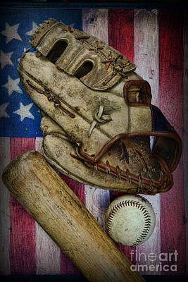 Baseball The Lefty Art Print by Paul Ward