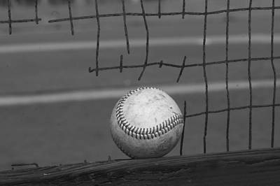 Baseball Time In B W Original