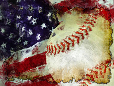 Baseball Royalty-Free and Rights-Managed Images - Baseball USA by David G Paul