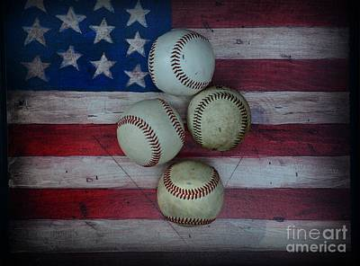 Folk Art Photograph - Baseball Usa by Paul Ward