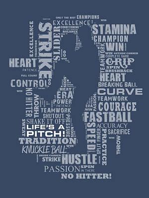 Baseball Painting - Baseball Words by Jim Baldwin