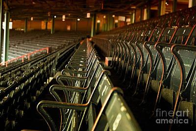 Baseball's Classic Bostons Fenway Park Vintage Seats Art Print by Doc Braham