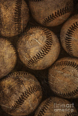 Sports Royalty-Free and Rights-Managed Images - Baseballs by Diane Diederich