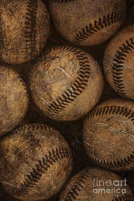 Baseballs Art Print by Diane Diederich