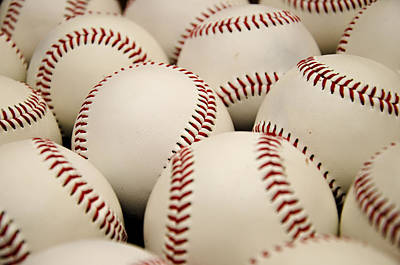 Baseball Royalty-Free and Rights-Managed Images - Baseballs II by Ricky Barnard