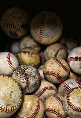 Photograph - Baseballs  by Lee Dos Santos