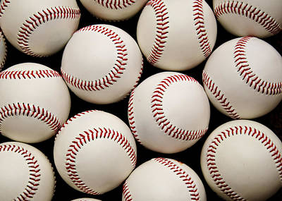 Baseball Royalty-Free and Rights-Managed Images - Baseballs by Ricky Barnard