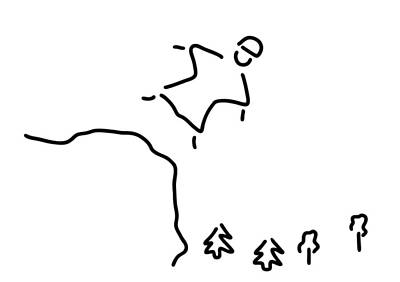 Extremes Drawing - Basejumping Extreme Sport by Lineamentum