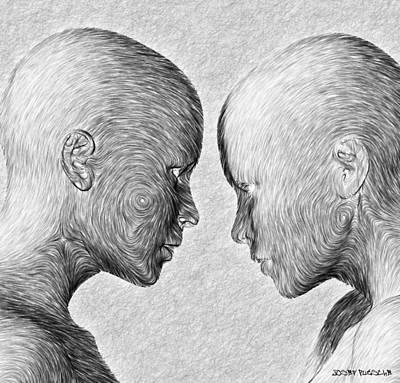 Rhythm And Blues Digital Art - Basements Theories . C 3 by Sir Josef - Social Critic -  Maha Art