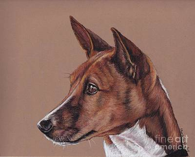 Painting - Basenji by Charlotte Yealey