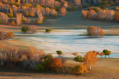 Ovine Painting - Bashang Autumn Scenery by Lanjee Chee