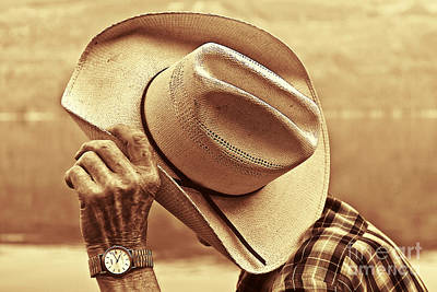 Mans Hat Photograph - Bashful by Sandi Mikuse