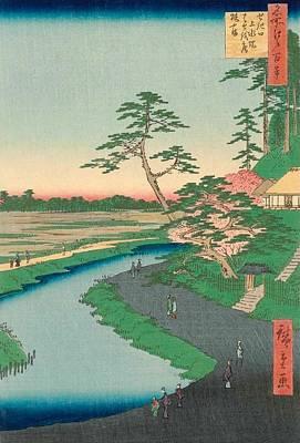 Hermitage Painting - Basho's Hermitage by Utagawa Hiroshige